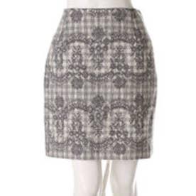 ウィルセレクション ニードルレースコクーンスカート(ミディアムグレー)