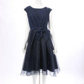 ウィルセレクション サテン×オーガンジードレス(ネイビー)