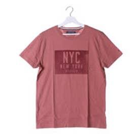 トミーヒルフィガー TOMMY ボックスロゴショートスリーブTシャツ (ピンク)