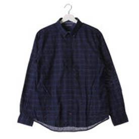 トミーヒルフィガー TOMMY HILFIGER ホームスパンチェックシャツ (ネイビー)