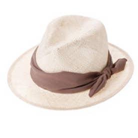 カシュカシュ cache cache ケンマ草中折れマニッシュ帽 (ブラウン)