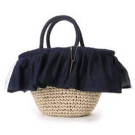 オデット エ オディール バッグ Odette e Odile bag L&O Wドレープバスケット (ネイビー)