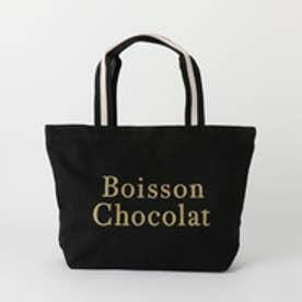 ボワソンショコラ Boisson Chocolat B ロゴトートストライプ M (ブラック)
