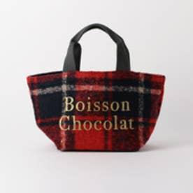 ボワソンショコラ Boisson Chocolat B ロゴトートチェック S (レッド)