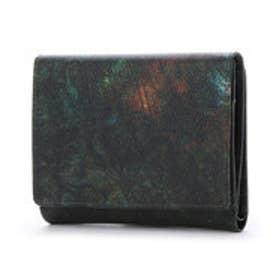 アルセラピィ artherapie ラスト 二つ折り財布 (カーキ)