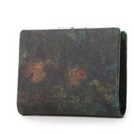 アルセラピィ artherapie ラスト 二つ折りがま口財布 (カーキ)