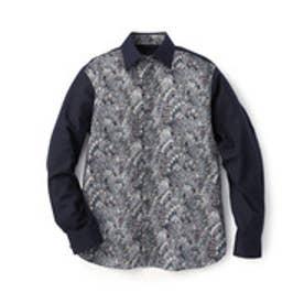 フォーティーカラッツアンドゴーニーゴ 40CARATS&525 セミワイドカラー シャツ (ブルー系)
