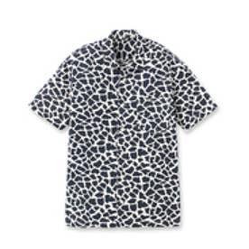 フォーティーカラッツアンドゴーニーゴ 40CARATS&525 キリンプリント 半袖シャツ (ネイビー)