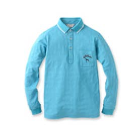 アダバット adabat 小紋ジャガードポロシャツ (ブルー)