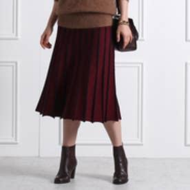 アクアガール aquagirl 配色ラインスカート (ワインレッド)