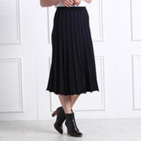 アクアガール aquagirl 配色ラインスカート (ブラック)