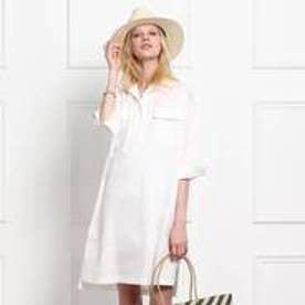 アクアガール クローラ aquagirl/CROLLA ワークシャツワンピース (ホワイト)
