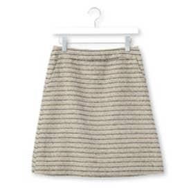 クチュール ブローチ Couture brooch ラメボーダーツイードスカート (ベージュ系)