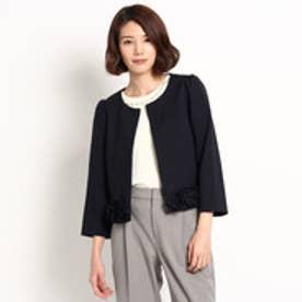 クチュール ブローチ Couture brooch ポンチ裾フリルジャケット (ブルー系)