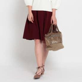 クチュール ブローチ Couture brooch ドビーフレアスカート (ボルドー)