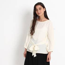クチュール ブローチ Couture brooch フロントリボンブラウス (オフホワイト)