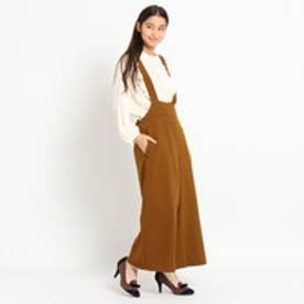クチュール ブローチ Couture brooch リボンモチーフワイドサロペット (ダークブラウン)