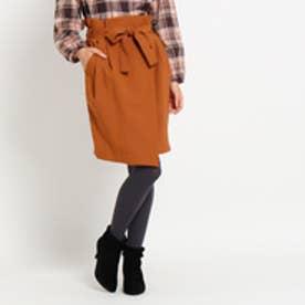 クチュール ブローチ Couture brooch ラップ風ウエストリボンスカート (キャメル)