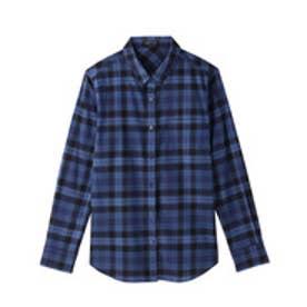インディヴィ INDIVI [S]ヴァレッタチェックシャツ (ブルー)