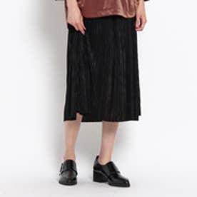 オゾック OZOC シャイニープリーツスカート (ブラック)