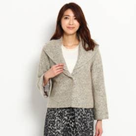 スーナウーナ SunaUna 重ね襟デザインジャケット (ライトベージュ)