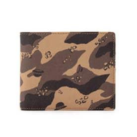 タケオ キクチ TAKEO KIKUCHI ボーラーカモフラPVC二つ折り財布 (サンドベージュ)