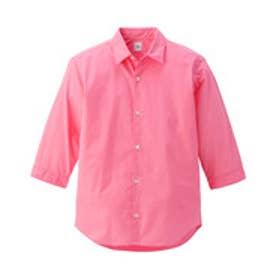 タケオ キクチ TAKEO KIKUCHI パウダードライブロード7分袖カラーシャツ (ベビーピンク)