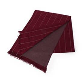 タケオ キクチ TAKEO KIKUCHI Silk cashmere Dress Scarf/Stripe (ボルドー)