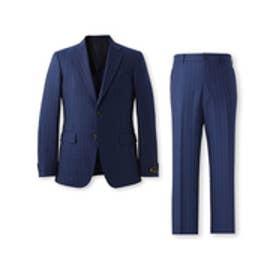 タケオ キクチ TAKEO KIKUCHI ワイドピッチストライプスーツ (ブルー)
