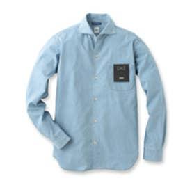 タケオ キクチ TAKEO KIKUCHI ライトウェイトデニム オープンカラーシャツ (ブルー)