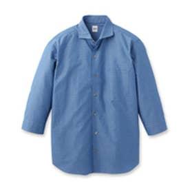 タケオ キクチ TAKEO KIKUCHI 刺し子ドット 七分袖シャツ (ブルー)
