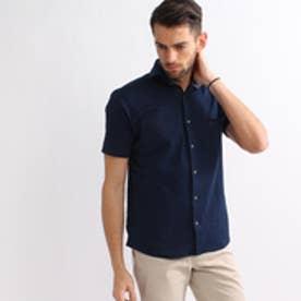 タケオ キクチ TAKEO KIKUCHI フロントオープンポロシャツ (ブルー系)