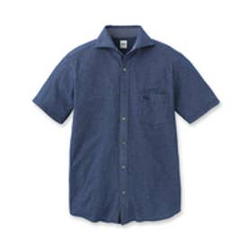 タケオ キクチ TAKEO KIKUCHI フロントオープンポロシャツ (ブルー)