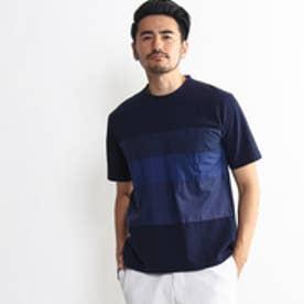 タケオ キクチ TAKEO KIKUCHI シルケットカノコTシャツ (ネイビー)
