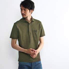 タケオ キクチ TAKEO KIKUCHI アーガイルポロシャツ (カーキ)