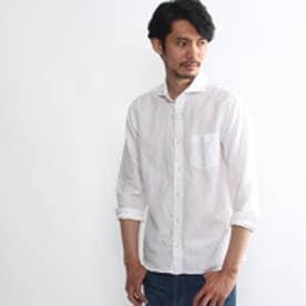 タケオ キクチ TAKEO KIKUCHI 綿麻ドビーシャンブレーシャツ (オフホワイト)