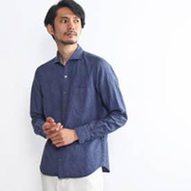 タケオ キクチ TAKEO KIKUCHI 綿麻ドビーシャンブレーシャツ (ブルー系)