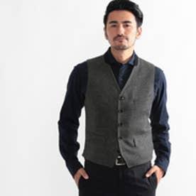 タケオ キクチ TAKEO KIKUCHI CS_ツィードベスト (チャコールグレー)