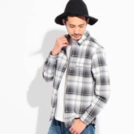 ティーケー TK オンブレーチェックカジュアルシャツ (ブラック)