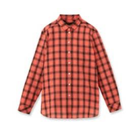 アンタイトル UNTITLED 2WAYシャドーチェックシャツ (オレンジ)
