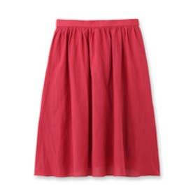 アンタイトル UNTITLED 綿麻フォレスタローンスカート (ピンク系)