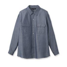 アンタイトル UNTITLED [L]オフボディデニムカシュクールシャツ (ネイビー)