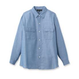 アンタイトル UNTITLED [L]オフボディデニムカシュクールシャツ (ライトブルー)