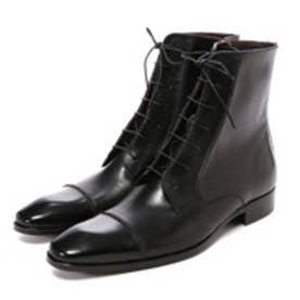 銀座ワシントン Criff 819-81960L 【大きめサイズ】一文字レースアップビジネスブーツ(ブラック)
