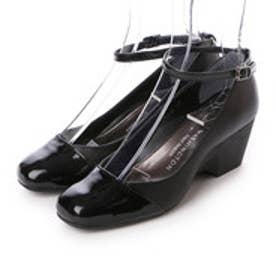 銀座ワシントン WASHINGTON Foot Happy FootHappy アンクルストラップパンプス (ブラック)