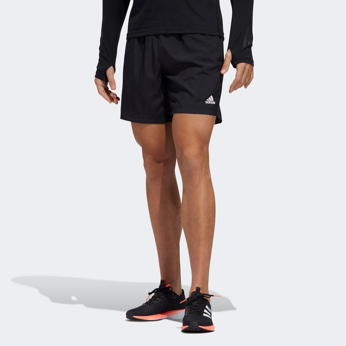 アディダス adidas RUN IT SHORT PB 3 STRIPES M (ブラック)