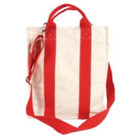 コカ coca シンプルライン2wayキャンバスバッグ (Red)