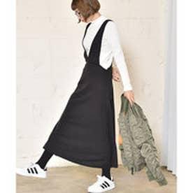 コカ coca ほんのり裏起毛深Vネックジャンパースカート (Black)
