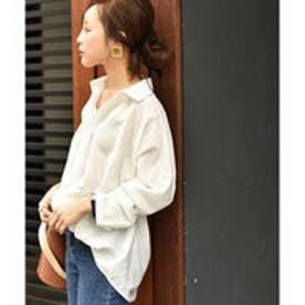 コカ coca 裾タックスキッパーシャツcocaオリジナル (White)