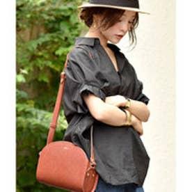 コカ coca 袖タックピンストライプスキッパーシャツ (Black)